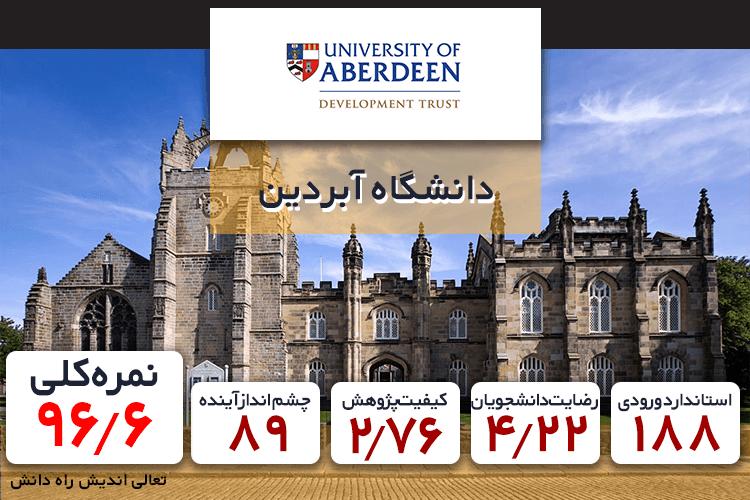 رتبه دانشگاه آبردین در بین دانشگاه های حقوق انگلستان