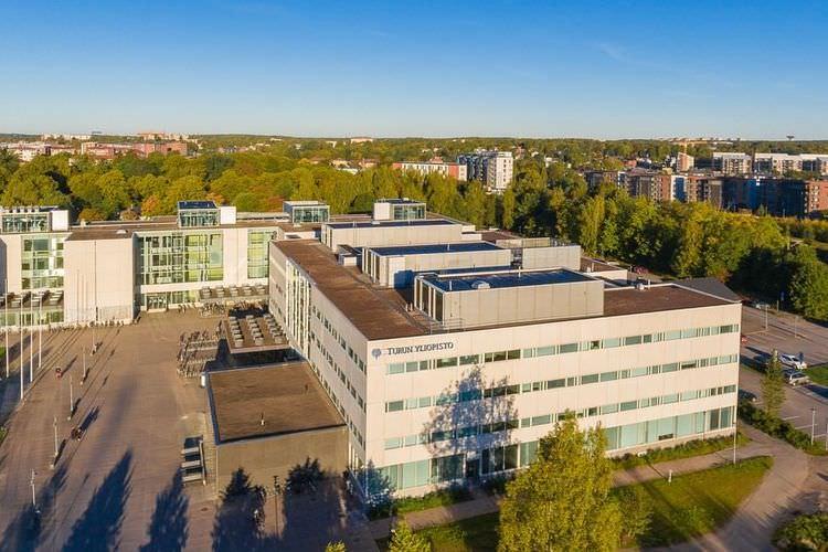 عکس دانشگاه تورکو فنلاند از نمای بالا