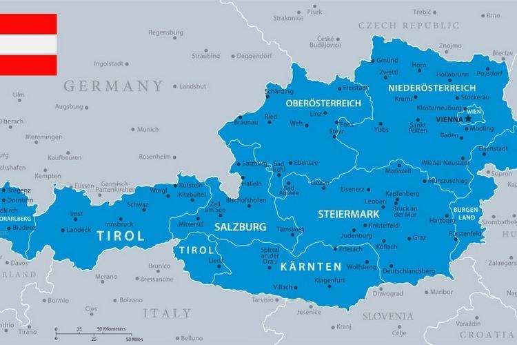 موقعیت کشور اتریش